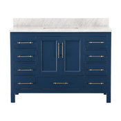 "Kendall Blue Bathroom Vanity, 48"", Vanity With Top"