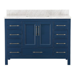 Kendall Blue Bathroom Vanity, 48""