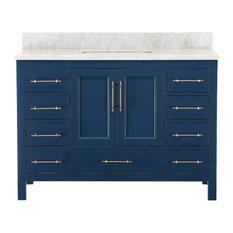 """Kendall Blue Bathroom Vanity, 48"""", Vanity"""