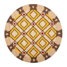 Safavieh FRS455-4R Area Rug, Beige/Yellow