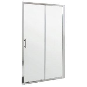 Chrome Sliding Shower Door, 1100 Mm