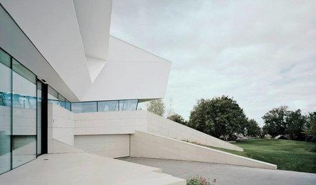 Houzz Австрия: Вилла со скульптурными формами и грандиозным видом