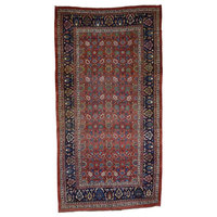 """Hand-Knotted Antique Persian Bidjar Exc Cond Gallery Size Rug, 8'6""""x16'0"""""""