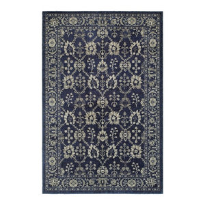 "Oriental Weavers Richmond 8020K Navy/Gray Oriental Area Rug, 5'3""x7'6"""