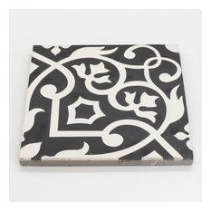 """8""""x8"""" Dokala Handmade Cement Tile, Black/White, Set of 12"""