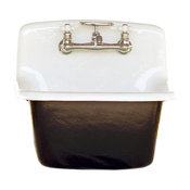 Deep Utility Sink Antique Style Cast Iron Porcelain Farm Sink Set, Black