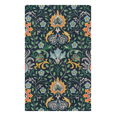 Momeni Newport Wool Hand Tufted Navy Area Rug, 8'x10'