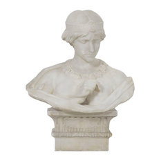 Consigned Antique Marble Bust of Cleopatra by Aristede Petrilli
