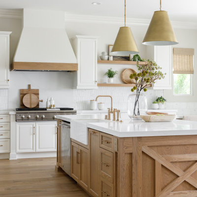 Example of a beach style kitchen design in Orange County