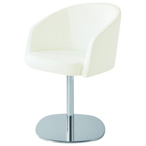 Nest White Leather Chair