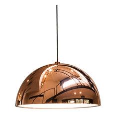 Medium Dome Pendant, Copper