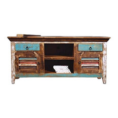 Reclaimed Solid Wood Tv Console