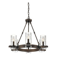 Millennium Lighting, 806-RBZ, Tulsa Six Light Chandelier Rubbed Bronze