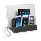 Ultra Charging Station and Dock With 6-Outlet Power Strip, City Pop