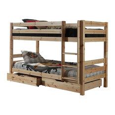 Pino Bunk Bed, Natural, Euro Double