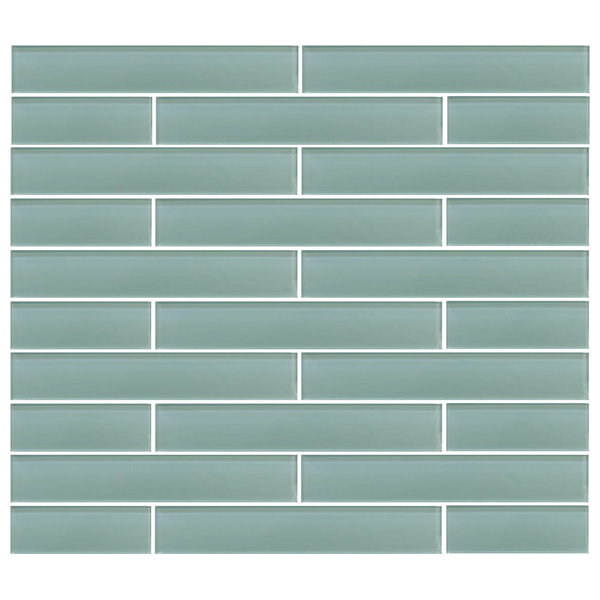 Seafoam Green Glass Subway Tile, 2