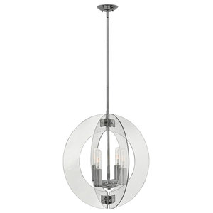 Orb 4-Light Chandelier, Polished Chrome