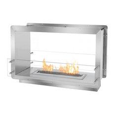 "39.5"" Double-Sided Ethanol Burning Firebox Fireplace Wall Insert"