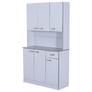 Storage Cabinet, Particle Board With 6-Door and 1-Drawer, Modern Design