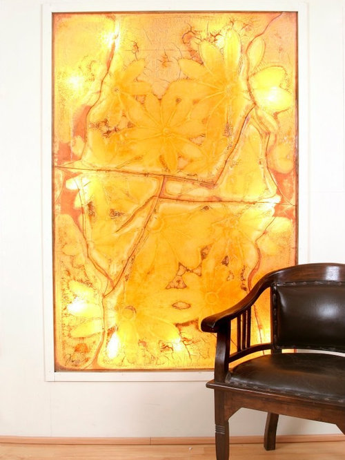 ABSTRACT OVERSIZED ART GLASS PAINTINGS , CUSTOM WALL GLASS PAINTINGS