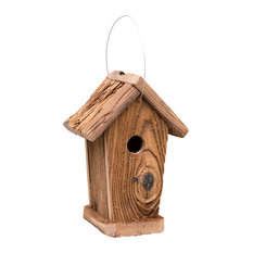Rustic Barnwood Corn Crib Replica Hanging Bird House