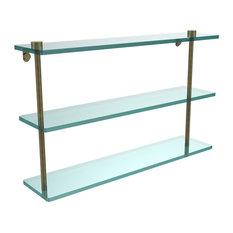 """22"""" Triple Tiered Glass Shelf"""