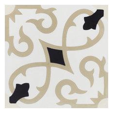 "8""x8"" Charlotte Primero Cement Tiles, Box of 12 Tiles"
