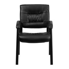 Flash Furniture Leather Executive Side Chair Black 23 25 X26