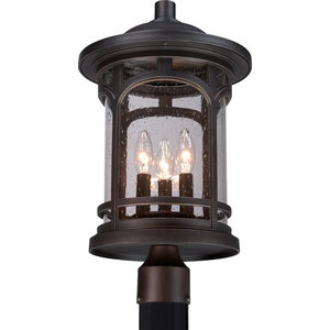Luxury Rustic Bronze Outdoor Post Light, Medium, UQL1107, Sydney Collection