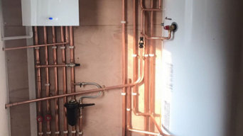 Boiler installation at Roath Park lake cardiff