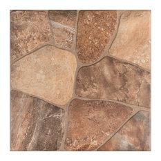 """17.75""""x17.75"""" Rhone Ceramic Floor/Wall Tiles, Set of 8, Caliza"""