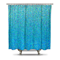 Shower Curtain HQ    Blue Raspberry  Fabric Shower Curtain by Catherine  Holcombe  Standard   Silver Shower Curtain   Houzz. Blue And Silver Shower Curtain. Home Design Ideas