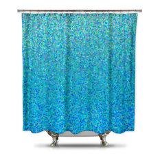 Silver Shower Curtain | Houzz