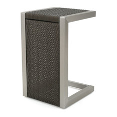 Crested Bay Outdoor C-Shaped Side Table, Gray