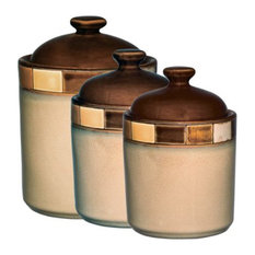 Gibson Casa Estebana 3 Piece Canister Set Kitchen Canisters And Jars