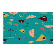 DiaNoche Designs   Area Rugs From DiaNoche By Nika Martinez, Mid Century  Hero Blue,