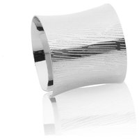 Classic Touch Silver Napkin Rings, Set of 6