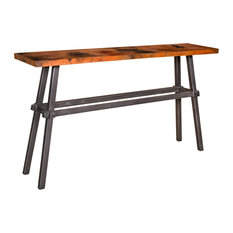 Tower Console Table With 60-inchx14-inch Copper Top