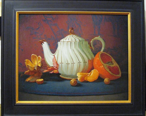 choosing a frame for a painting a still life