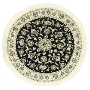 Nain 9La Persian Rug, Round Hand-Knotted, 120x120 cm