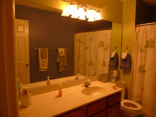 That Mirror So If You Cut The Down To Vanity Size Light Will Look Off Center Any Suggestions About What Do With This Would