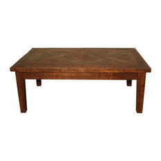 One World Home Furnishings Parquet Coffee Table Coffee Tables