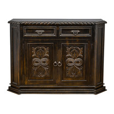 Trendily Home Collection - Florence Chest, Antique Gold - Accent Chests and Cabinets