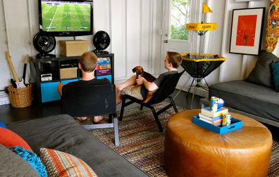 Room of the Day: Detached Garage Turned Teen Cave