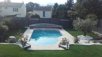 aménagement paysager et piscine