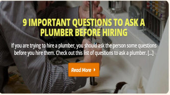 Ask some questions before the plumber