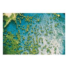 """Falling Rain"", Unnatural Abstractions, 2003 Canvas Art, 40x60, Framed"