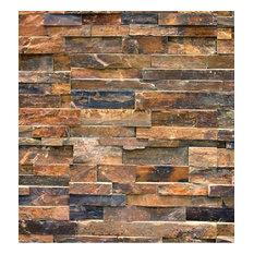 Stack Stone Veneer Panel, Classis, Autumn Red, EZ Fit Interlocking