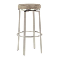 "Katy 30"" Counter Swivel Stool, Taupe"