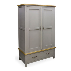 Chateau Storm Grey Double Wardrobe
